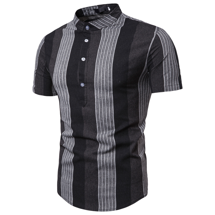 Men Simple Short Summer Shirt