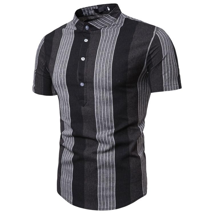 Men Simple Short Summer Shirt