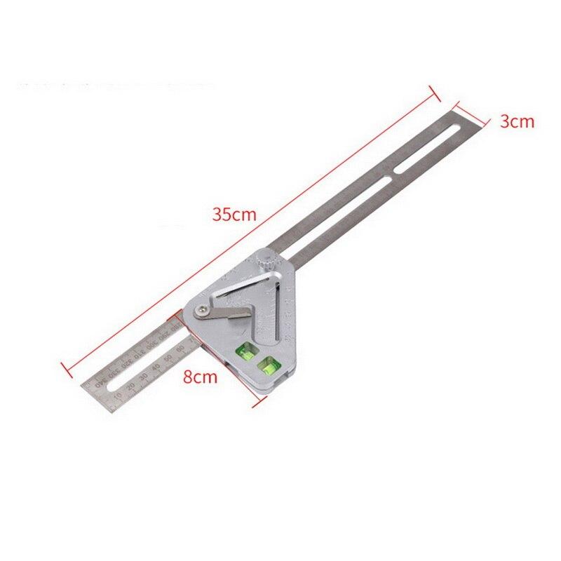 Triângulo régua multifuncional carpintaria triângulo régua ângulo