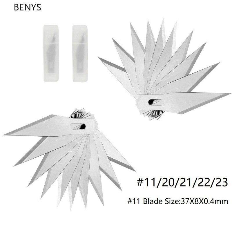 BENYS прочный 20 шт #9 № 11/20/21/22/23 лезвие из нержавеющей стали Скальпель резьба по дереву замена лезвия