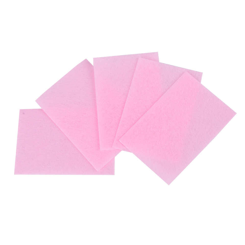70 قطعة الوردي خالية من الوبر مناديل جميع ل مانيكير مزيل طلاء الأظافر منصات ورقة مسمار Cutton منصات مانيكير باديكير جل أدوات