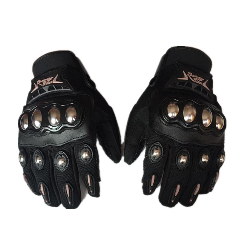 Touch screen Motorcycle Gloves Stainless Steel Motocross gloves Karting racing full finger gloves Summer Moto Guantes Luvas