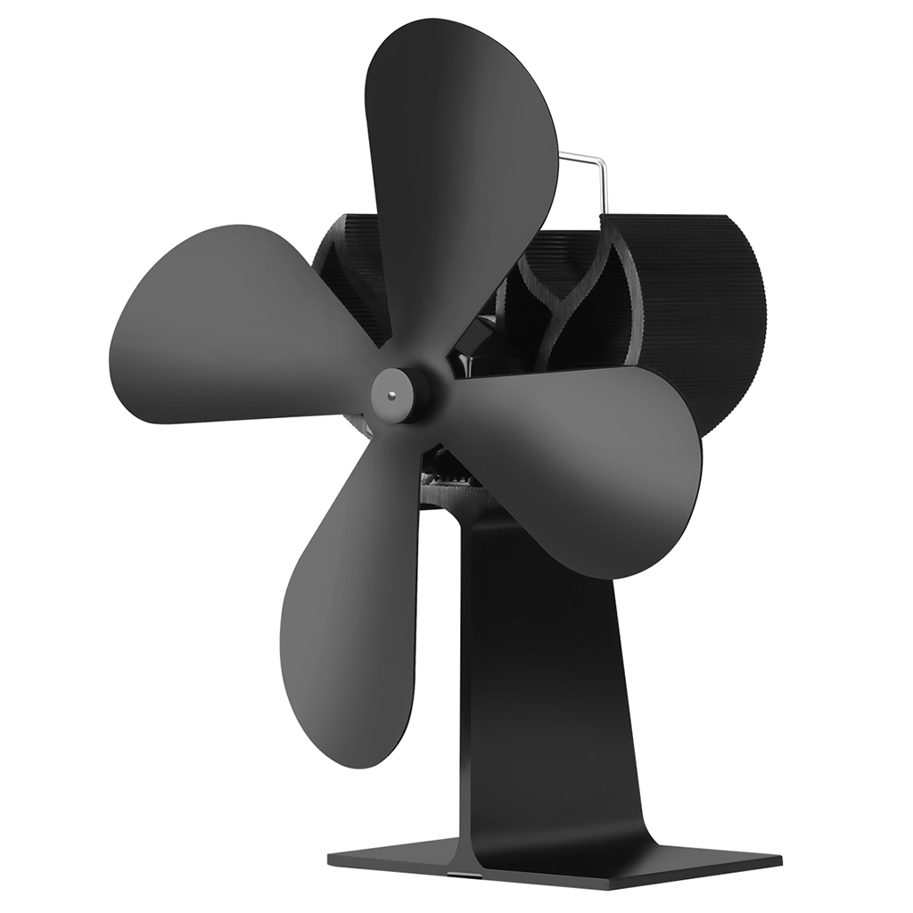 Drop Ship Wood Heater 4 Blades Stove Eco Fan Stove Fireplace Fire Heat Powered Circulating Fans Ultra Quiet