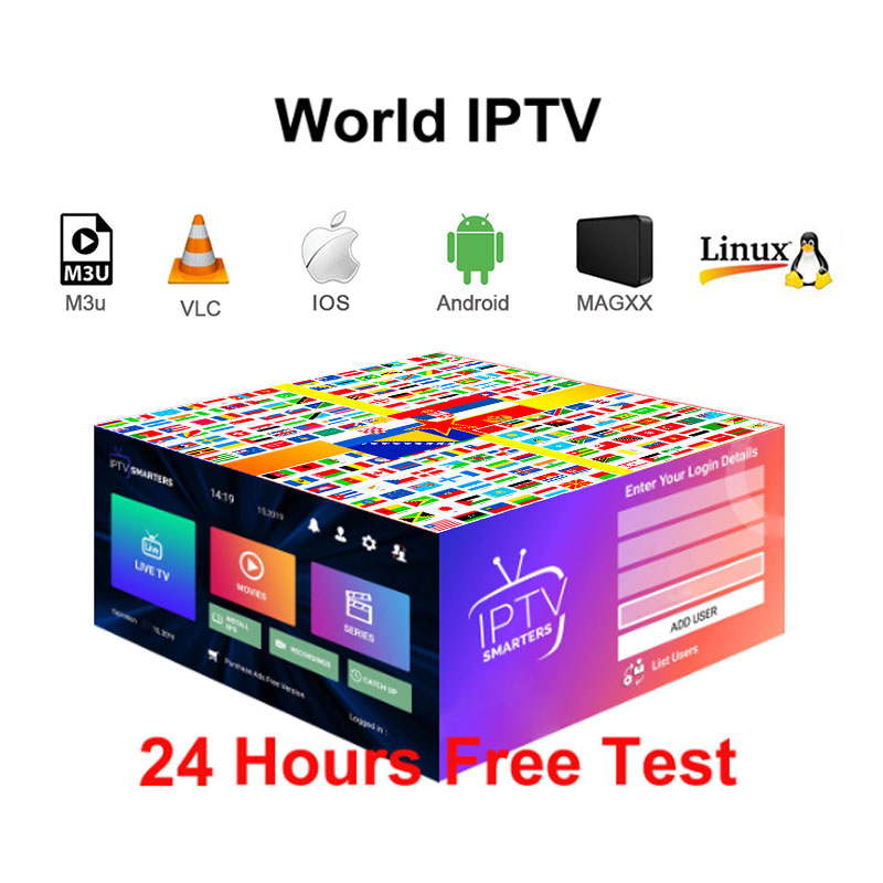 Europe IPTV Subscription 6500 Channels France Russia Arabic Canada Italy USA India Spain America Latin Smart Iptv M3U Android