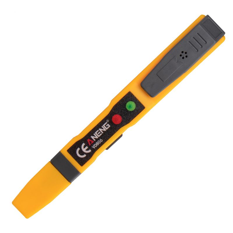 AC/DC Voltage Detector Electric Non-contact Pen Tester Continuity Battery Test Pencil With Sound Light Alarm VD806