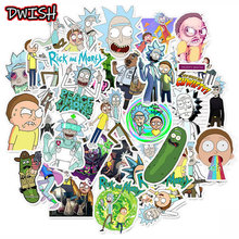 10 30 50pcs Pack Waterproof Cartoon Rick And Morty Stickers Skateboard Suitcase Guitar Luggage Laptop Stickers Kid Classic Toy cheap DWISH 1 2in(3CM)-3 9 in(10CM) Waterproof PVC Leave trace instagram anime stickers children kpop random 1Pack 50g Laptops Suitcase Luggage Motor Bicycle Car Fridge Guitar Phone