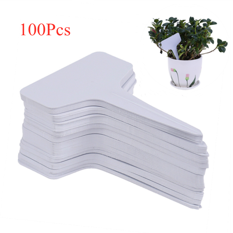 100Pcs Waterproof Plastic Nursery Garden Plant Label Flower Tag Mark N#S7