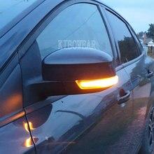 Динамический мигалка для Ford Focus MK3 Mondeo MK4, светодиодный зеркальный светильник с поворотным сигналом 2011, 2012, 2014, 2015, 2016, 2017, 2018