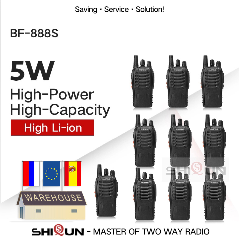 2PCS 4PCS 10PCS Baofeng BF-888S Walkie Talkie 888s 5W 400-470MHz UHF BF888s BF 888S H777 Cheap Two Way Radio USB Charger