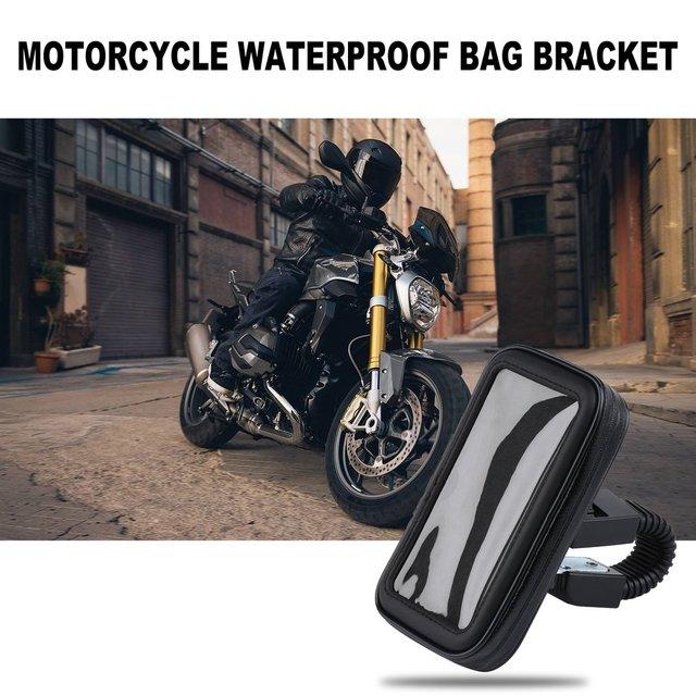Motocykl wodoodporna torba uchwyt 4 7 cal czarny tanie i dobre opinie 21inch plastic Systemy carrier 250kg bag holder 10inch WF7800 9inch