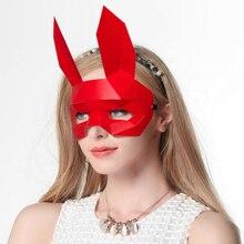 3D חצי פנים נייר דגם ארנב בעלי החיים תלבושות קוספליי DIY נייר דגם מסכת חג המולד ליל כל הקדושים לנשף מסיבת מתנה