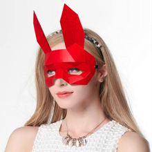 3D half face paper model Rabbit Animal Costume Cosplay DIY Paper  Model Mask Christmas Halloween Prom Party Gift