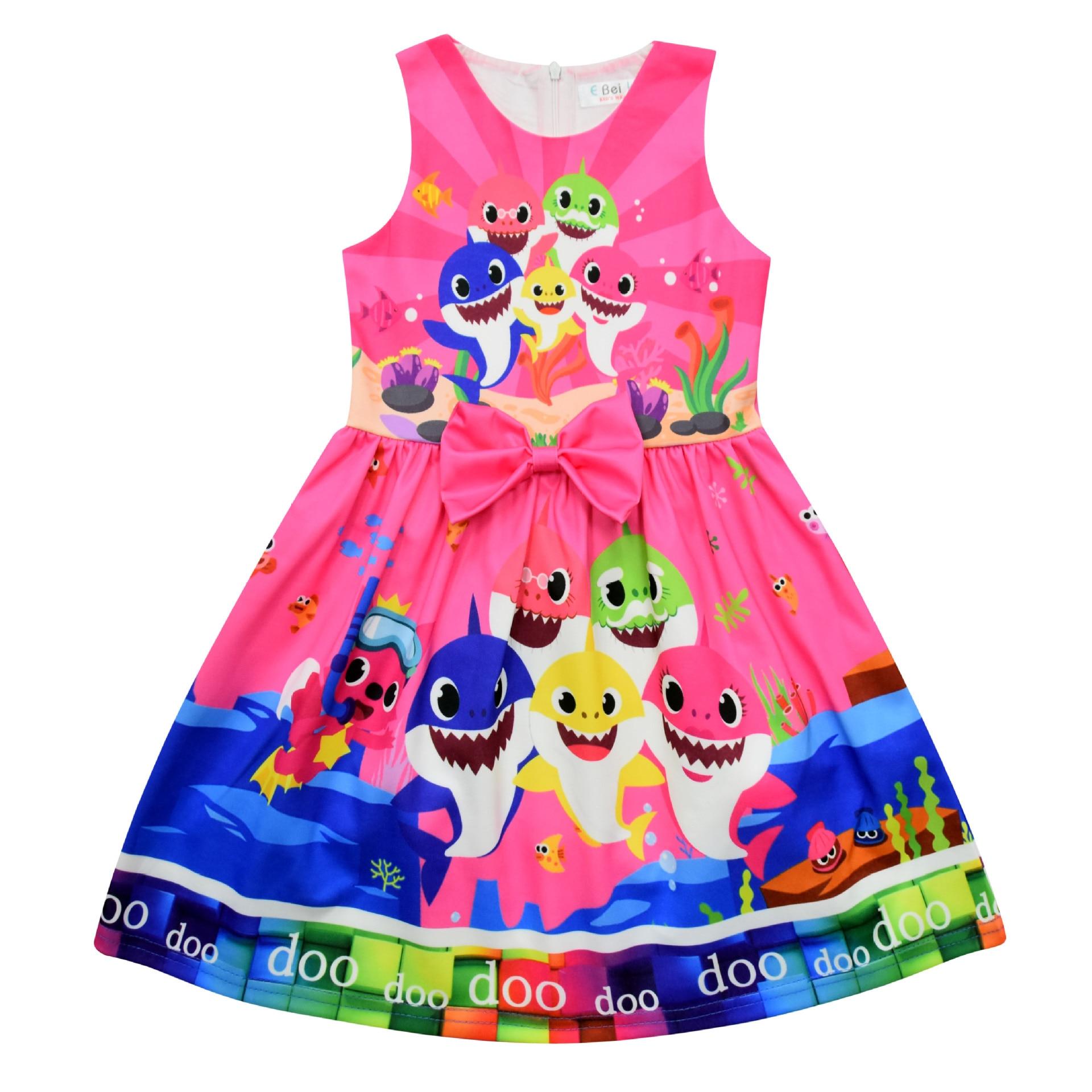 New Summer Surprise Girl Princess Dress Cute Cartoon Unicorn Party Dress Children Clothing 6