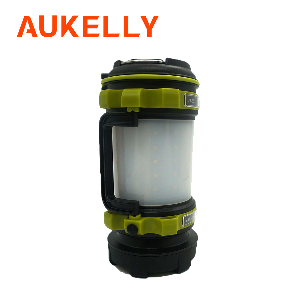 LED Camping Lantern Rechargeable Brightest Work Flashlight 4 Light Modes 2600mAh Power Bank Waterproof for Hurricane Emergency