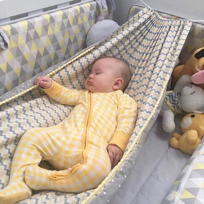 INS Style Baby Hammock for Crib Child Hammock Swing Baby Rocking Chair Indoor Outdoor Hanging Basket Cotton Hammock Swing