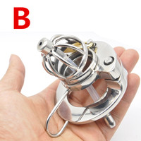 316L Stainless Steel Chastity Cage with Dilator Urethral Sounds New Penis Cock Ring Dick Cage Cock Sleeve Sex Toys for Man G211