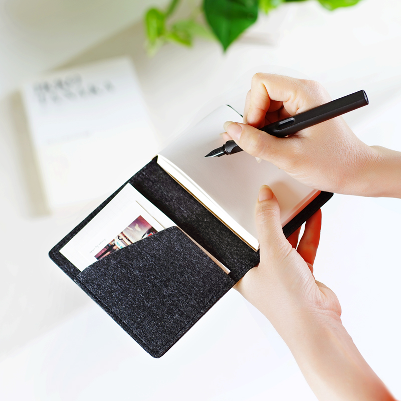 Mini Pocket <font><b>Notebook</b></font> Memo Pad Wool felt Note Book Stationery Gift <font><b>Traveler</b></font> <font><b>Journal</b></font> Stationery To Do List Tear Checklist Note Pad image