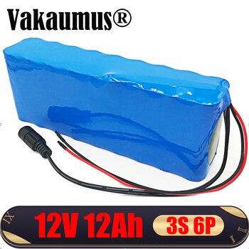 Vakaumu-batería de litio recargable de 12V, paquete de 12Ah, 18650 CC, 3S, BMS para herramientas, lámpara LED de xenón, cámara