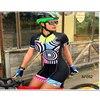 Moda feminina triathlon manga curta camisa de ciclismo define skinsuit maillot ropa ciclismo bicicleta jérsei roupas macacão 8