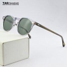Brand Sunglasses Women 2021 Vintage Ronud Sunglasses Women Glasses Polarized Sunglasses Men OV5186 Driving Fashion Retro UV400