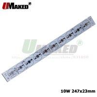 10 w 247x23mm led pcb 1/3/5 w 높은 전원 led aluminun 플레이트 설치 기본 히트 싱크 바 스트립 pcb 전구 수족관 라이트 램프 diy
