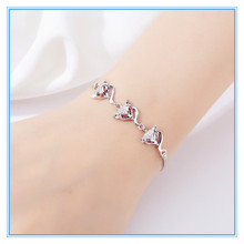 925 sterling silver bracelet bracelets for women friendship pandoras  Three lovely foxes The is pl