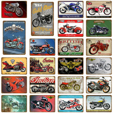 Retro Motorcycle Metal Sign Vintage Plaque British Old School Tin Sign Metal Wall Decor For Pub Bar Garage Plate Crafts Poster