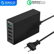 ORICO 4 Cổng USB Thông Minh Để Bàn 40W Max QC 2.0 USB Sạc Nhanh Sạc USB Cho Điện Thoại Di Động máy Tính Bảng