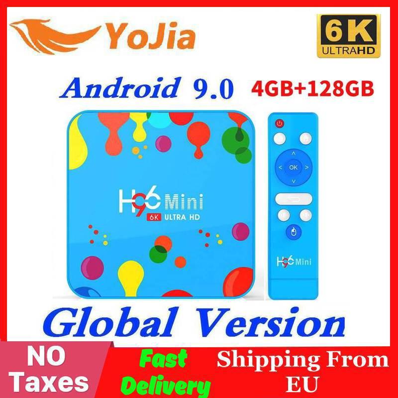 Новый 4 ГБ ОЗУ 128 Гб ПЗУ H96Mini Android 9,0 ТВ приставка Allwinner H6 четырехъядерный двойной Wifi 32 ГБ макс 6 к смарт медиаплеер H96 мини PK TX6-in ТВ-приставки и медиаплееры from Бытовая электроника on AliExpress - 11.11_Double 11_Singles' Day