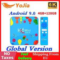 New 4GB RAM 128GB ROM H96Mini Android 9.0 TV Box Allwinner H6 QuadCore Dual Wifi 32GB MAX 6K Smart Media Player H96 Mini PK TX6