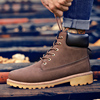 Coturno/коричневые мужские ботинки с высоким берцем; Кожаные зимние ботинки; Мужские водонепроницаемые ботинки с мехом; Теплые ботиночки Timber Bot; Обувь на суше