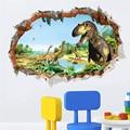 Новинка, яркие 3d наклейки на стену с динозаврами для украшения дома, Настенная роспись для детской комнаты, художественный плакат из ПВХ, на...