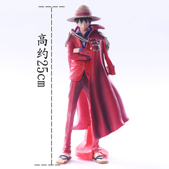One Piece Luffy 20th Anniversary Ver. PVC Action Figure Red Cloak The Ultimate King Luffy Collectible Model 25cm 7 8 neca predator ultimate 30th anniversary jungle hunter pvc action figure jungle hunter unmasked collectible model doll toys