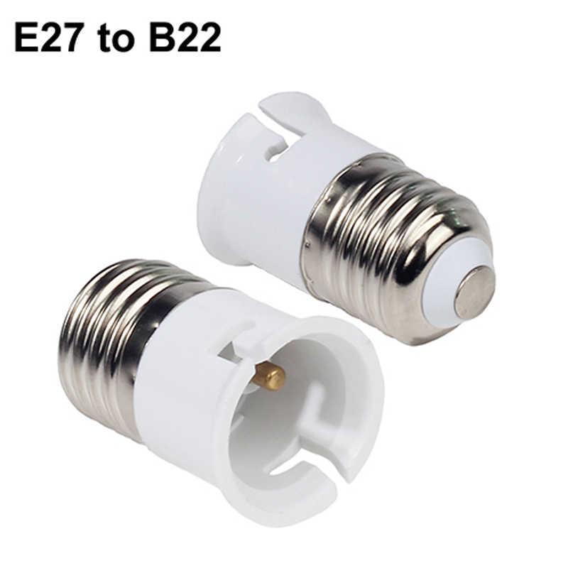B22 GU10 E27 E14 E40 لمبة مصباح الكثير ضوء محول محول قاعدة بلاستيكية تركيب المقبس مآخذ المسمار الأبيض LED حامل