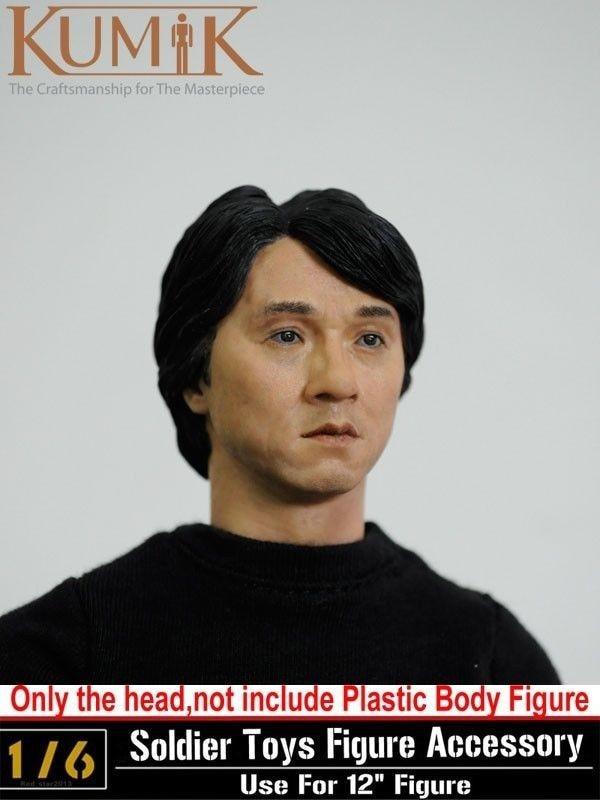 "1//6 KUMIK 13-41 Jackie Chan Man Male Head Sculpt F 12/"" HT Male Figure Bodies"