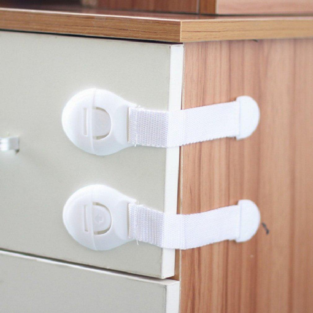 10 PCS Baby Safety Lock Drawer Lock Multi-function Protection Baby Refrigerator Lock Children Long Cabinet Door Lock