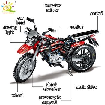 "Конструктор HUIQIBAO ""Мотоцикл"", 481 шт. 3"