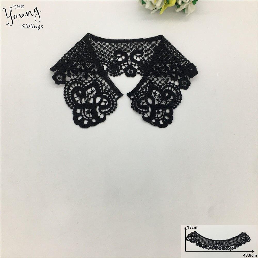 Новое поступление, черная вышитая Цветочная искусственная аппликация для шитья, сделай сам, вырез на горловине, одежда, принадлежности для ...