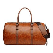 MAIOUMY Men Leather Gym Bag Leather Sports Training Bag Lady Fitness Yoga Travel Luggage Training Luggage sac main femme #0930(China)