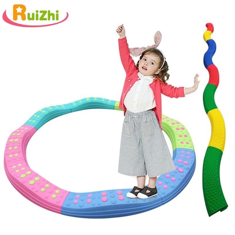 Ruizhi Balance Tactile Board Children Sensory Training Equipment Kindergarten Single-Plank Bridge Kids Outdoor Sport Toys RZ1175