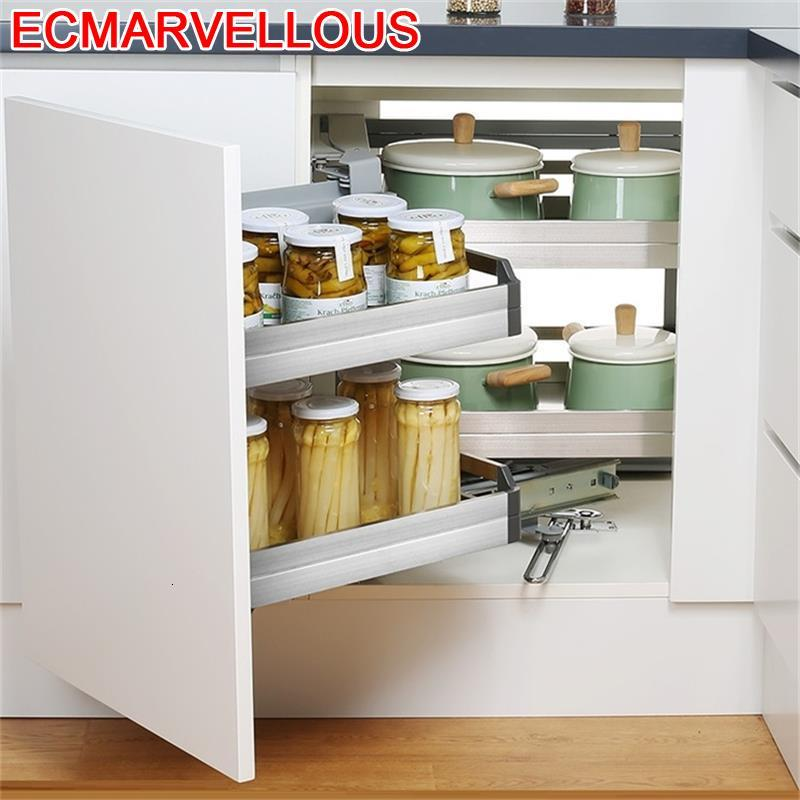 Corredera Drawer For Cucina Rangement Cuisine Despensa Gabinete Stainless Steel Cozinha Organizer Kitchen Cabinet Storage Basket