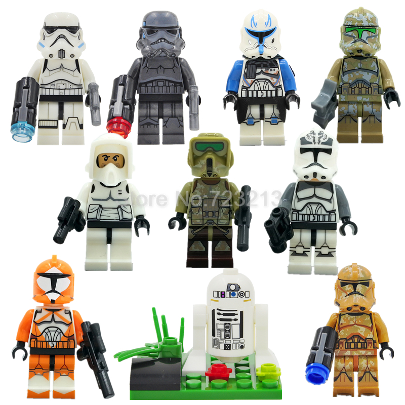 Single Sale Starwars SY Decool LELE Sandtrooper Figure Trooper Building Blocks Set Model Toys Legoing
