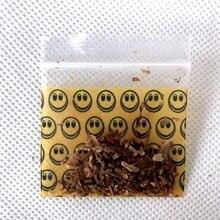 1 упаковка (100 шт.), новый табачный пакет, герметичный пакет для хранения табака, сумка для хранения дыма с улыбкой и желтым узором, с держателем, табачный пакет