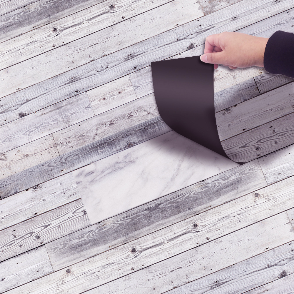 YOLALA 20x300CM Retro kendinden PVC yapıştırıcısı zemin rulosu eski tuğla hattı desen DIY otel yatak odası zemin çıkartması zemin stickerı