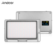 "Andoer Portable 96LED Video Light Panel Camera + OLED Screen 1/4"" Screw Hole 3500K-5700K for DSLR Cameras Smartphone Video Photo(China)"