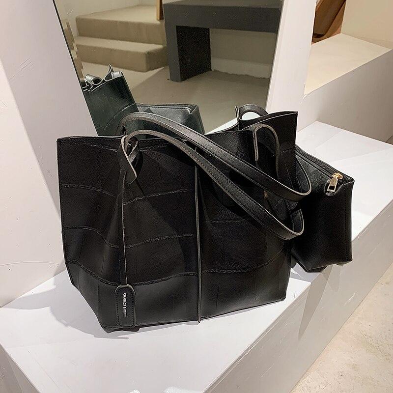с доставкой Trending Handbags Women Bags Designer Shoulder Bag Famous Brand Leather Ladies Handbag Large Capacity Tote Bag