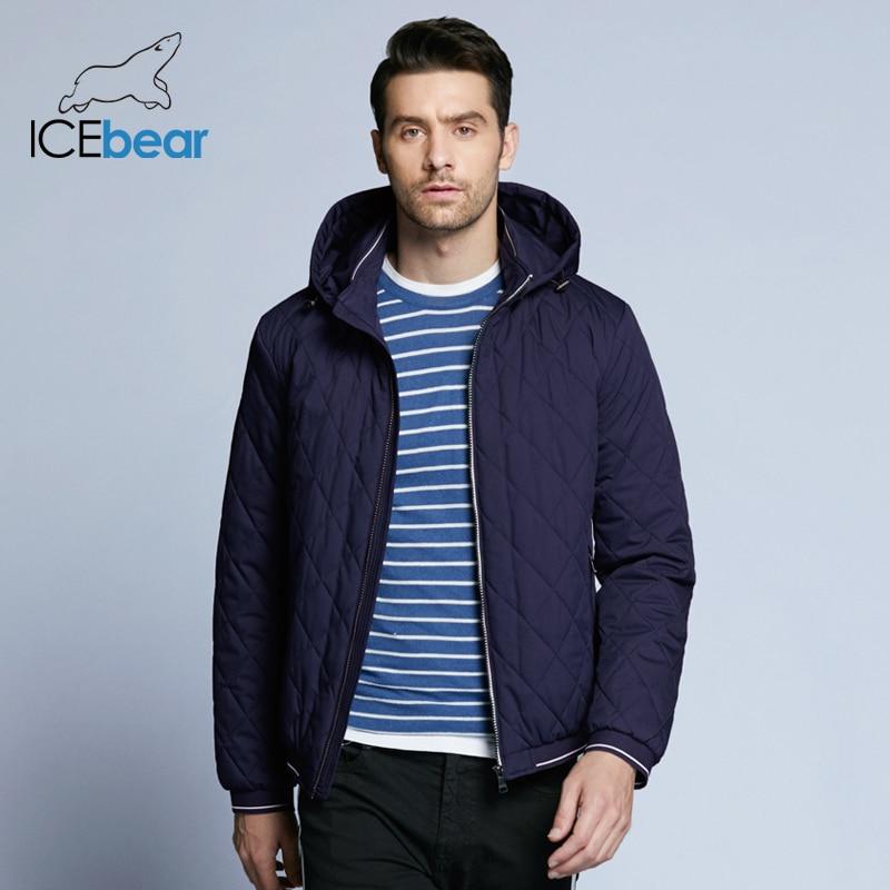 ICEbear 2019 New Autumn Men's Cotton Classic Quilted Design Coats Hat Detachable Fashion Man Jacket BMWC18032D