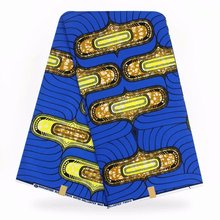2019 the lastest design pagne african wax hollantex 100% cotton 6yards/piece soft breathable waman