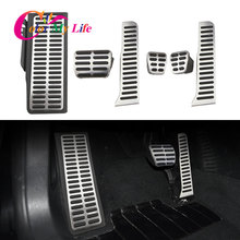 Color My Life Stainless Steel LHD Car Pedals for Volkswagen VW R36 R line CC Passat B6 B7 for Skoda Superb Gas Brake Pedal Cover