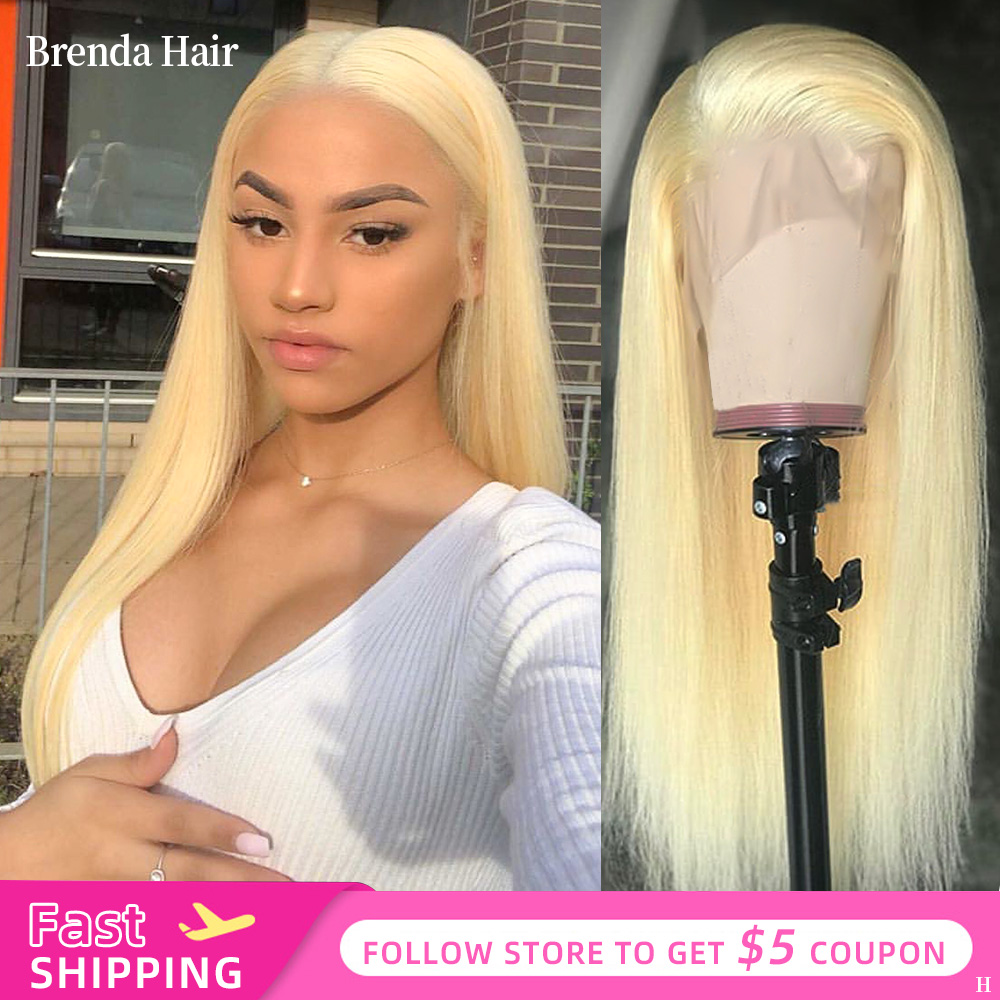 Glueless 13x4/13x6 613 Blonde Lace Front Wigs Remy Brazilian Straight Hair Lace Front Human Hair Wigs Pre Plucked With Baby Hair